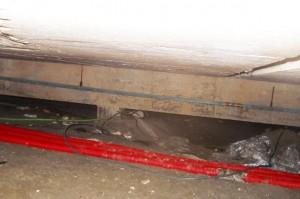 bodemverzakking van vloer in huis